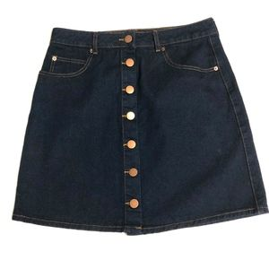 ASOS Button Front Denim Skirt Jean Skirt